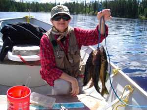Fishing at Latreille Lake Lodge