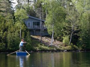 Fishing at Elk Lake Lodge.