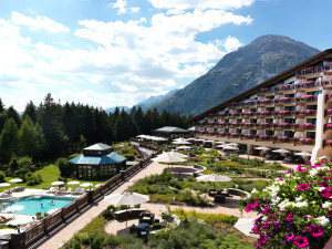 Exterior view of Interalpen-Hotel Tyrol.