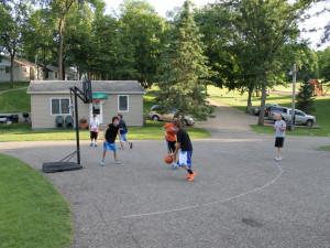 Basketball court at East Silent Resort.