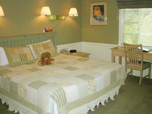 Guest room at Homestead Resort.