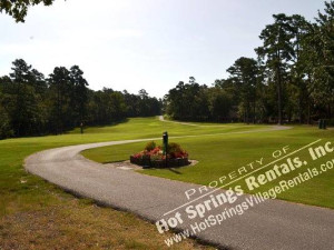 Golf course at Hot Springs Village Rentals.