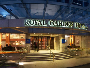 Exterior view of Royal Garden Hotel.