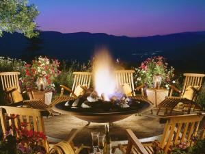 Fire pit at Lodge & Spa At Cordillera.