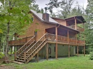 Cabin exterior at Georgia Mountain Cabin Rentals.