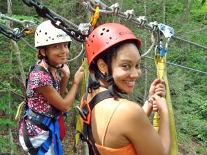 Zip line at ACE Adventure Resort.