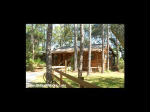 Cabin exterior at Old Saltworks Cabins.