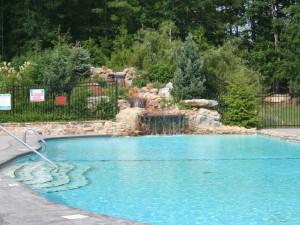 Outdoor pool at Highland Rim Retreats.