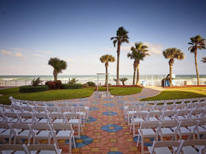 Wedding ceremony at Plaza Resort & Spa.