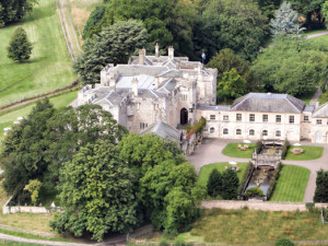 Aerial view of Hazelwood Castle.