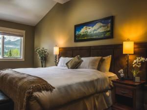 Guest bedroom at Solara Resort & Spa.