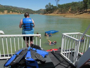 Swimming from houseboat at Pleasure Cove.