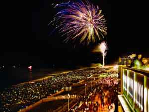 Fourth of July fireworks at Boardwalk Plaza Hotel.