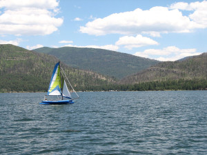 Sailing at Pine River Lodge.