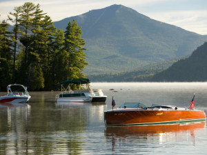 The lake at The Whiteface Lodge.