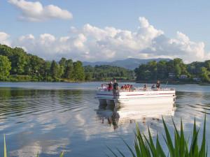 Boating at  Lake Junaluska Conference & Retreat Center.