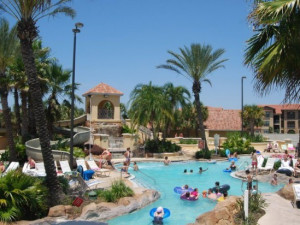 Regal Palms Clubhouse and Waterpark near Orlando Sunshine Villas.
