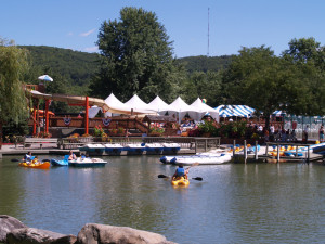 Lake activities at Rocking Horse Ranch Resort.