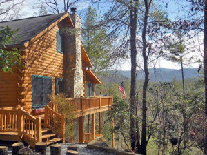 Cabin exterior at Black Bear Cabin Rentals.