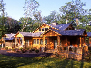 Cottage exterior at Skytop Lodge.