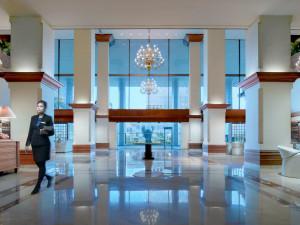 Lobby at Sari Pan Pacific Hotel Jakarta.