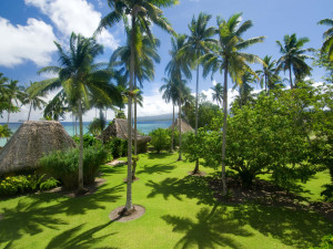Exterior view of Qamea Resort & Spa Fiji.