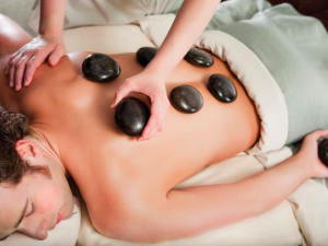 Hot stone massage at Crystal Mountain Resort and Spa.