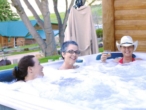 Hot tub at Colorado Cattle Company Ranch.