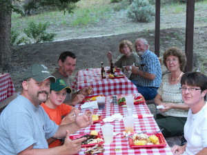 Outdoor Dining at Bill Cody Ranch