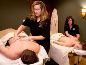 Couple's massage at Kalahari Waterpark Resort Convention Center.