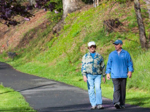 Hiking the trails at Lake Junaluska Conference & Retreat Center.
