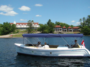 Boating at Windermere House.
