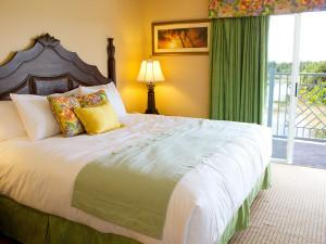 Guest bedroom at Summer Bay Resorts.