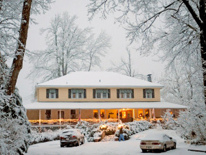 Winter at Orchard Inn and Cottages.