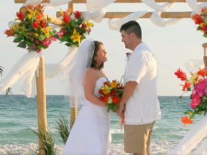 Beach Wedding at Port Royal Ocean Resort