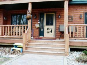 Private Porch at Log Lodge