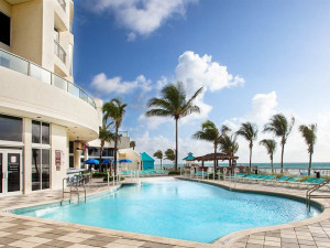 Outdoor pool at Doubletree Ocean Point Resort & Spa.