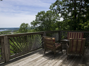 Rental deck at Branson Vacation Houses.