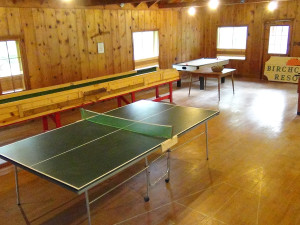 Recreation room at Birchcliff Resort.