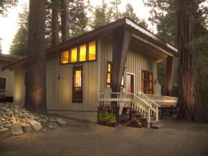 Cabin exterior at Tahoma Lodge.