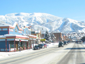 Town view at SkyRun Vacation Rentals - Steamboat Springs, Colorado.