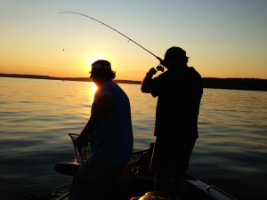 Fishing at Cozy Bay Resort.