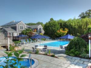 Outdoor pool at Pleasant Bay Village.
