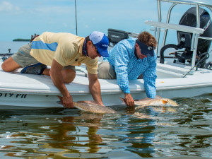 Catch and release fishing at Hawks Cay Resort.