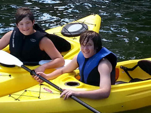 Kayaking fun at Lake Breeze Resort