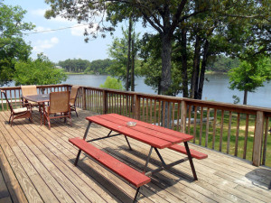 Cottage deck at King Creek Resort & Marina.