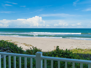 Beach view at Tuckaway Shores Resort.