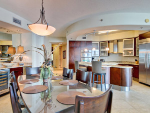 Enjoy home-style amenities such as a full kitchen when vacationing in a beach home or condo by Southern Vacation Rentals.