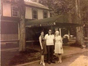 Old photo of Baumann's Brookside Summer Resort.