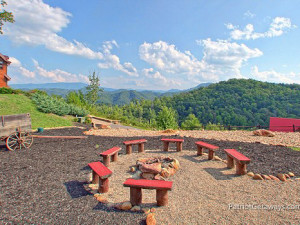 Fire pit at American Patriot Getaways, LLC.